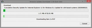 Windows Updates Downloader ダウンロード中